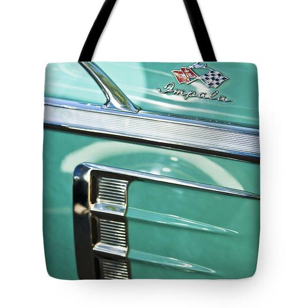 1958 Chevrolet Impala Emblem Tote Bag
