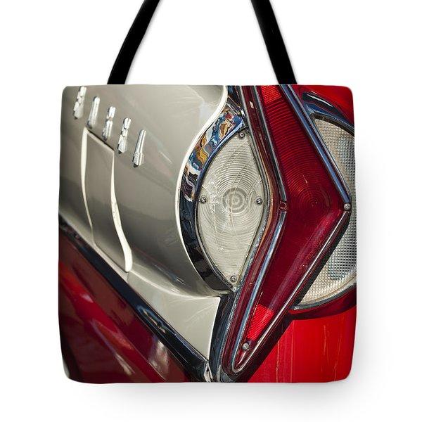 1958 Edsel Wagon Tail Light Tote Bag by Jill Reger