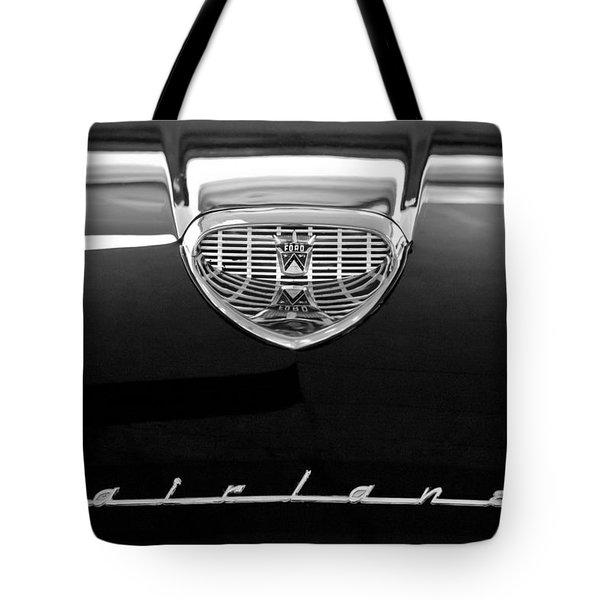 1958 Ford Fairlane 500 Victoria Hood Emblem Tote Bag