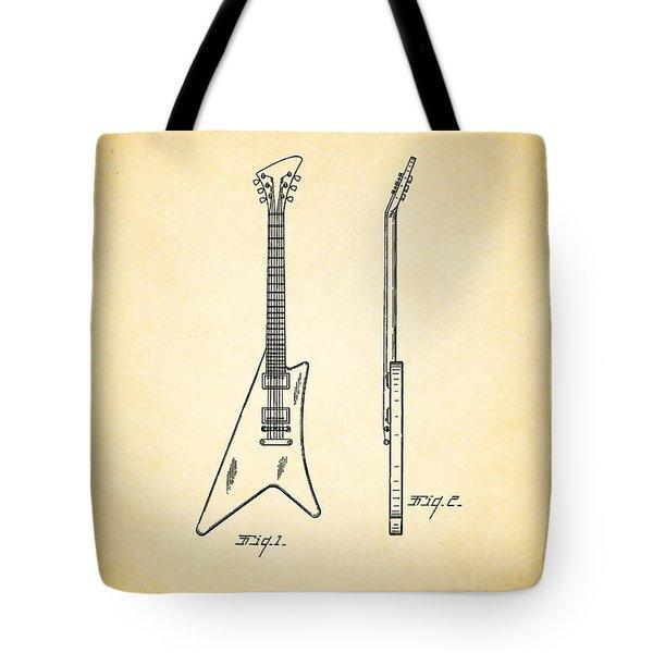 1958 Gibson Guitar Patent Tote Bag