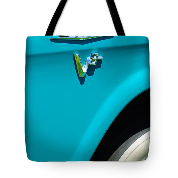1958 Gmc Series 101-s Pickup Truck Side Emblem Tote Bag