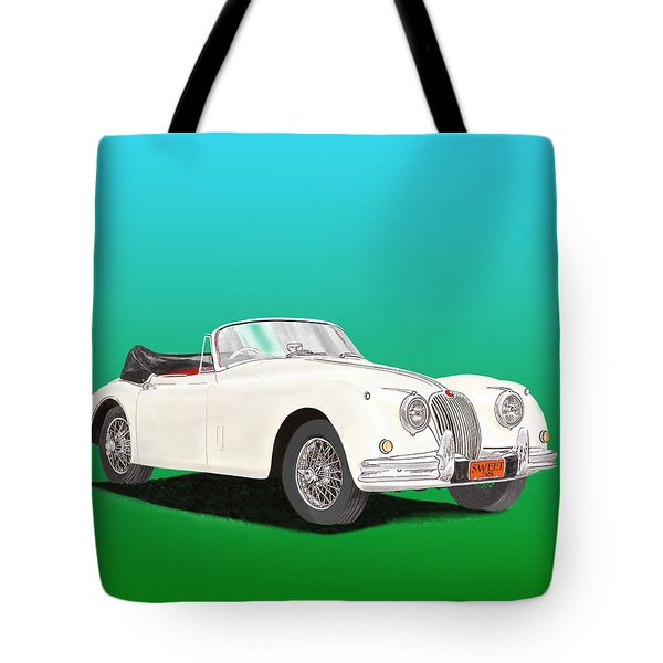 1958 Jaguar X K 150 S Cabriolet Tote Bag