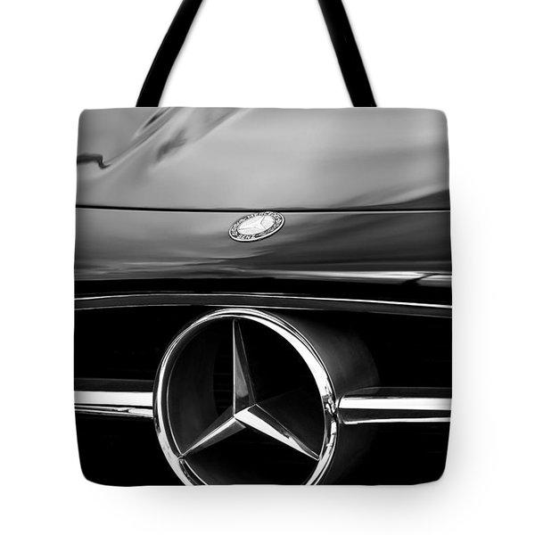 1958 Mercedes-benz 300sl Roadster Grille Emblem Tote Bag