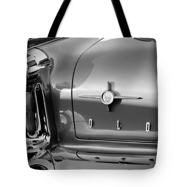 1958 Oldsmobile 98 Taillight Emblem Tote Bag