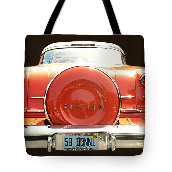 1958 Pontiac Bonneville Tote Bag by Diana Angstadt