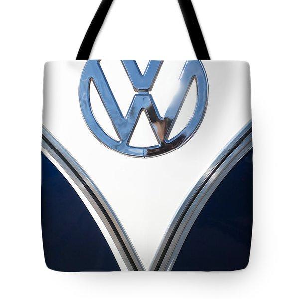 1958 Volkswagen Vw Bus Emblem Tote Bag