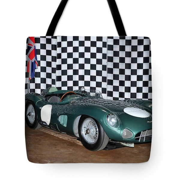 1959 Aston Martin Dbr1 Tote Bag by Boris Mordukhayev