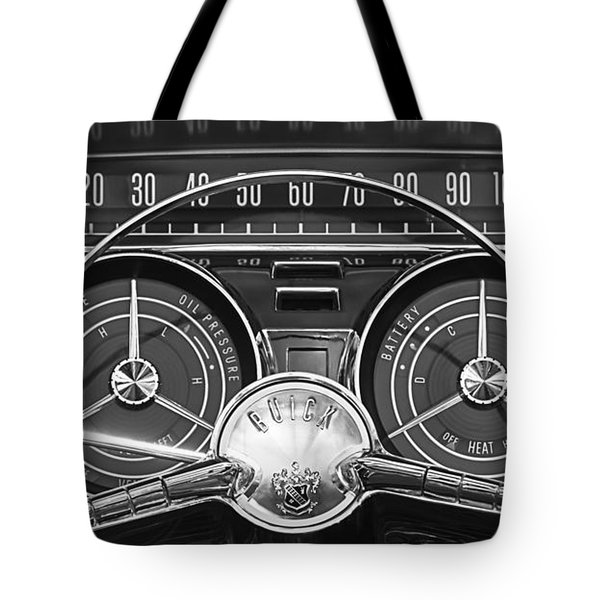 Tote Bag featuring the photograph 1959 Buick Lasabre Steering Wheel by Jill Reger