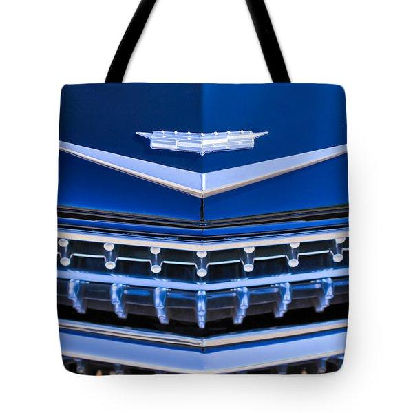 1959 Cadillac Eldorado Hood Ornament Tote Bag by Jill Reger
