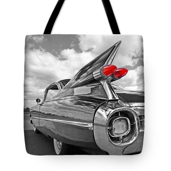 1959 Cadillac Tail Fins Tote Bag by Gill Billington