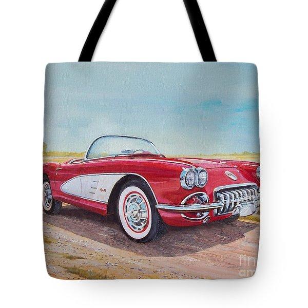 1959 Chevrolet Corvette Cabriolet Tote Bag
