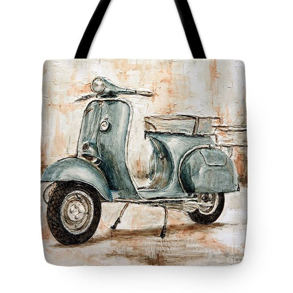 1959 Douglas Vespa Tote Bag by Joey Agbayani