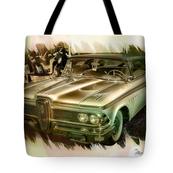 Tote Bag featuring the photograph 1959 Edsel by Ericamaxine Price