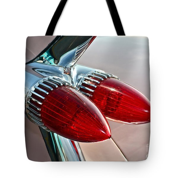 1959 Eldorado Taillights Tote Bag by Linda Bianic