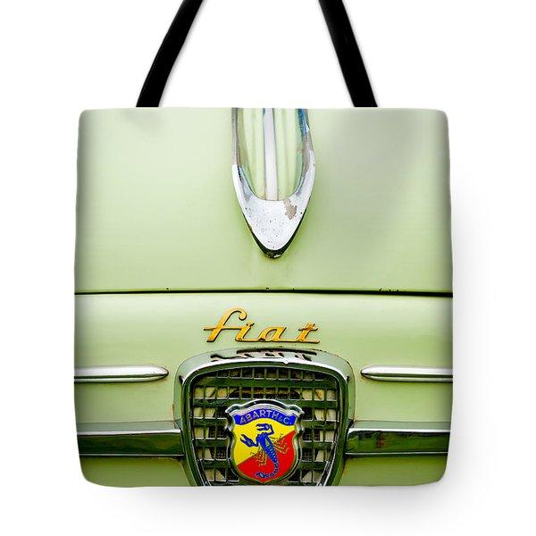 1959 Fiat 600 Derivazione 750 Abarth Hood Ornament Tote Bag by Jill Reger