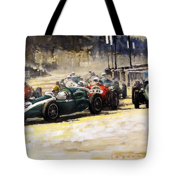 1959 Monaco Gp  #24 Cooper Climax T51 Jack Brabham Winner  Tote Bag