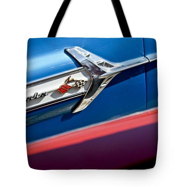 1960 Chevrolet Impala Emblem 7 Tote Bag by Jill Reger