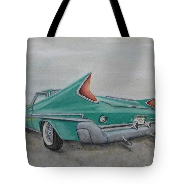 1960 Classic Saratoga Chrysler Tote Bag by Kelly Mills
