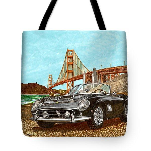 1960 Ferrari 250 California G T Tote Bag by Jack Pumphrey