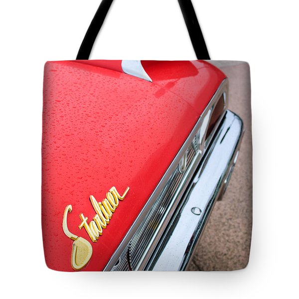 1960 Ford Galaxie Starliner Taillight Emblem Tote Bag by Jill Reger