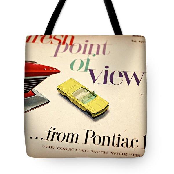 1960 Pontiac Matchbox Cover Car Tote Bag