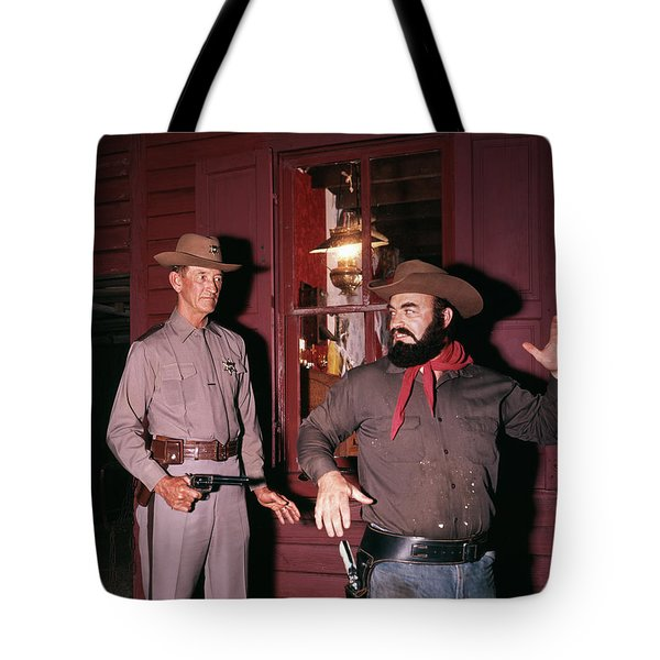 1960s 1970s Western Sheriff Arrests Tote Bag