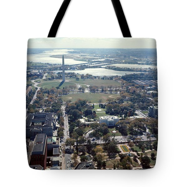 1960s Aerial View Washington Monument Tote Bag