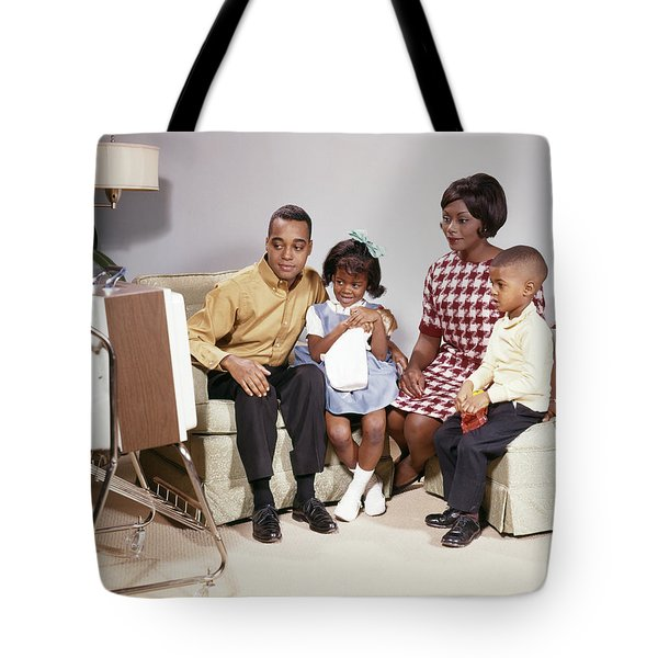 1960s African American Family Mother Tote Bag