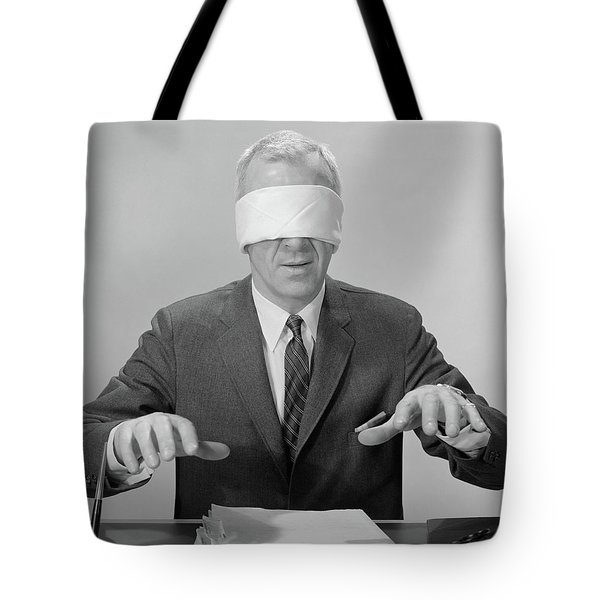 1960s Business Man Hands Hovering Tote Bag