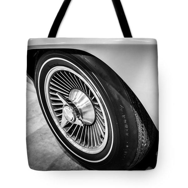 1960's Chevrolet Corvette C2 Spinner Wheel Tote Bag by Paul Velgos