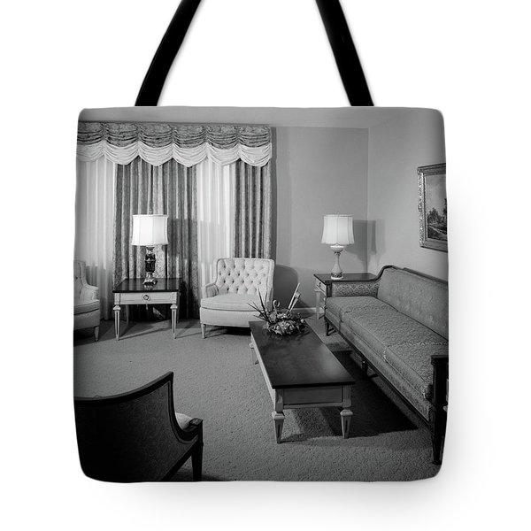1960s Formal Living Room Interior Tote Bag
