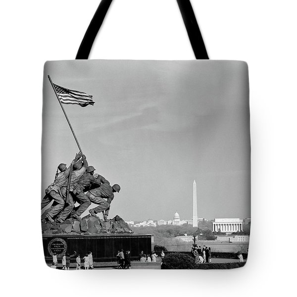 1960s Marine Corps Monument Tote Bag