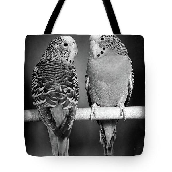 1960s Pair Of Parakeets Perched Tote Bag