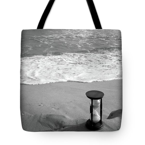 1960s Still Life Of Hourglass At Edge Tote Bag