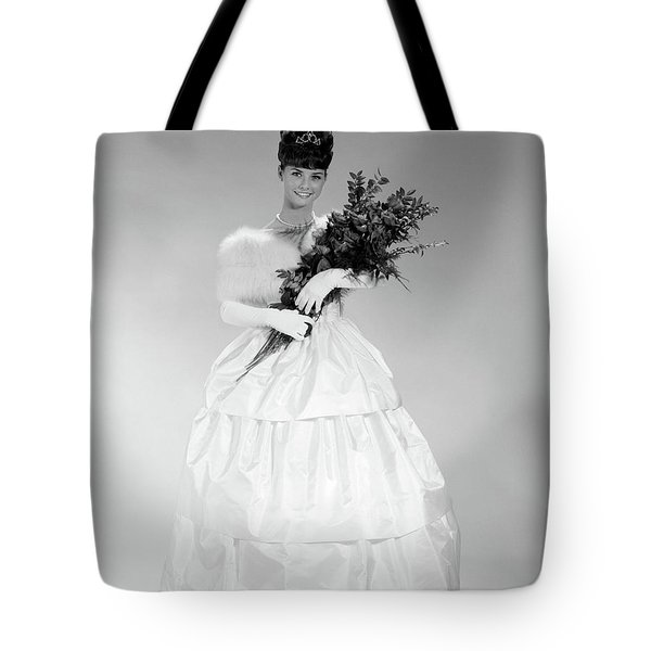 1960s Young Woman In Evening Dress Tote Bag