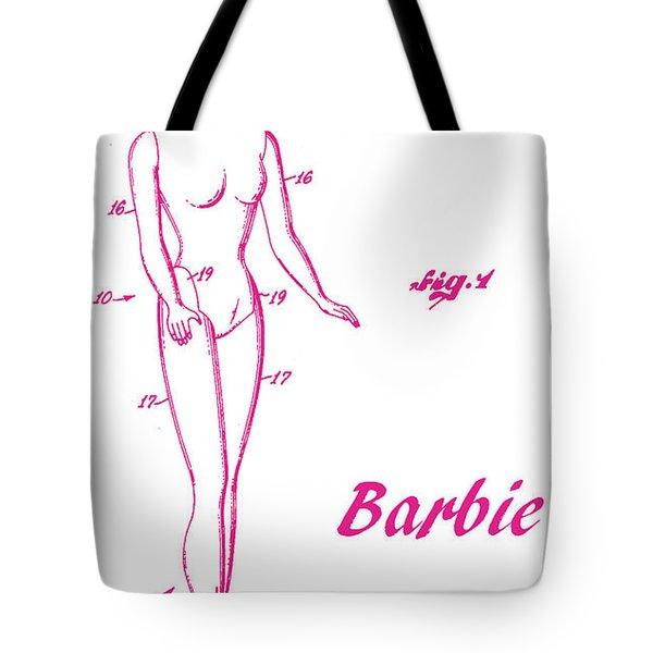 1961 Barbie Doll Patent Art 3 Tote Bag
