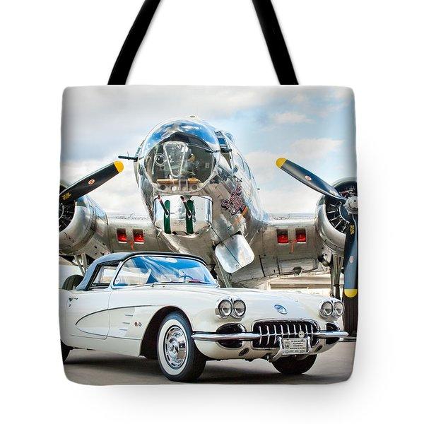 1961 Chevrolet Corvette Tote Bag by Jill Reger