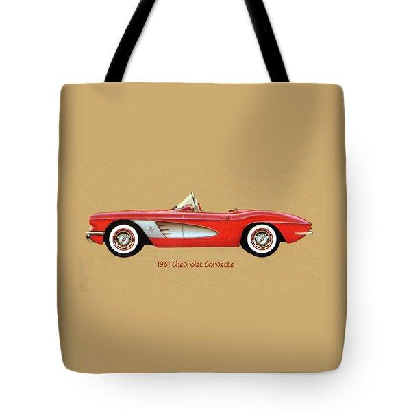 1961 Chevrolet Corvette Tote Bag