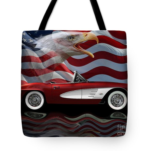 1961 Corvette Tribute Tote Bag