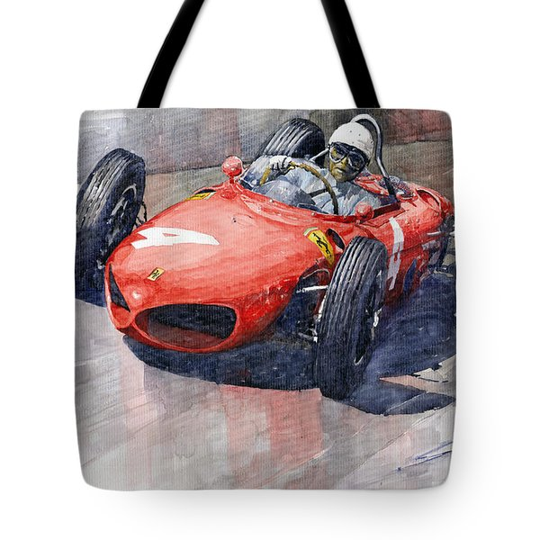 1961 Germany Gp Ferrari 156 Phil Hill Tote Bag by Yuriy Shevchuk