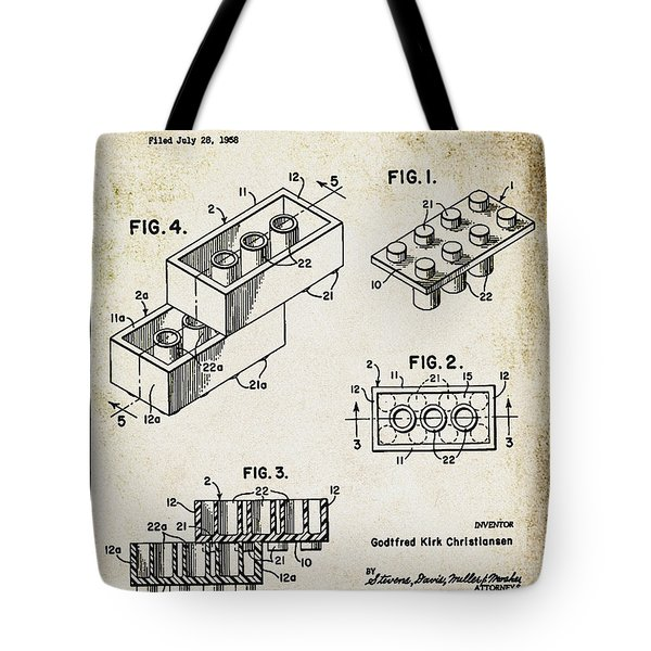 1961 Lego Patent Tote Bag by Bill Cannon