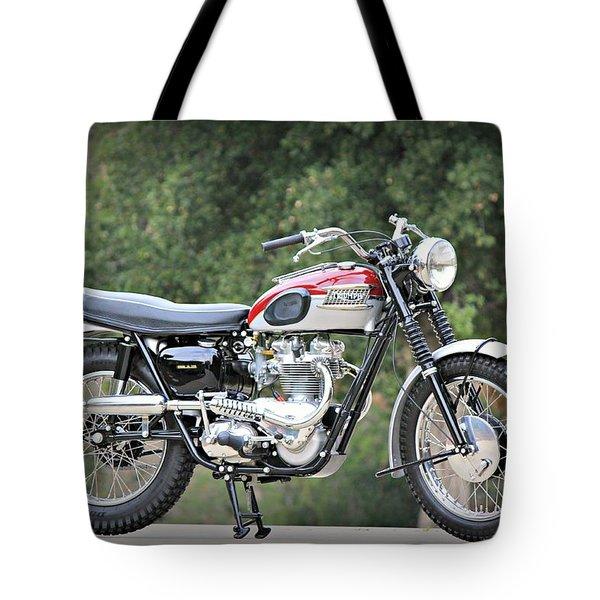 1961 Triumph Tr6c Tote Bag