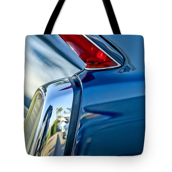 Tote Bag featuring the photograph 1962 Cadillac Deville Taillight by Jill Reger