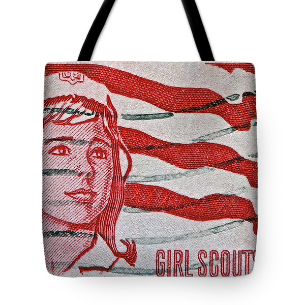 1962 Girl Scouts Stamp Tote Bag by Bill Owen