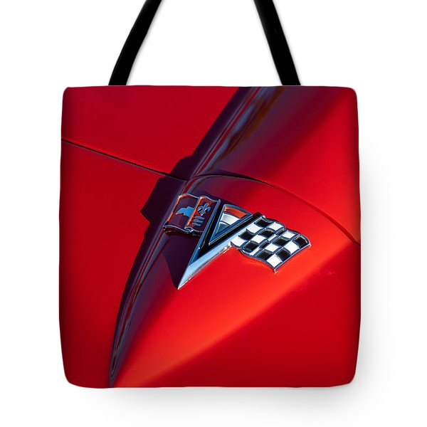 1963 Chevrolet Corvette Hood Emblem Tote Bag