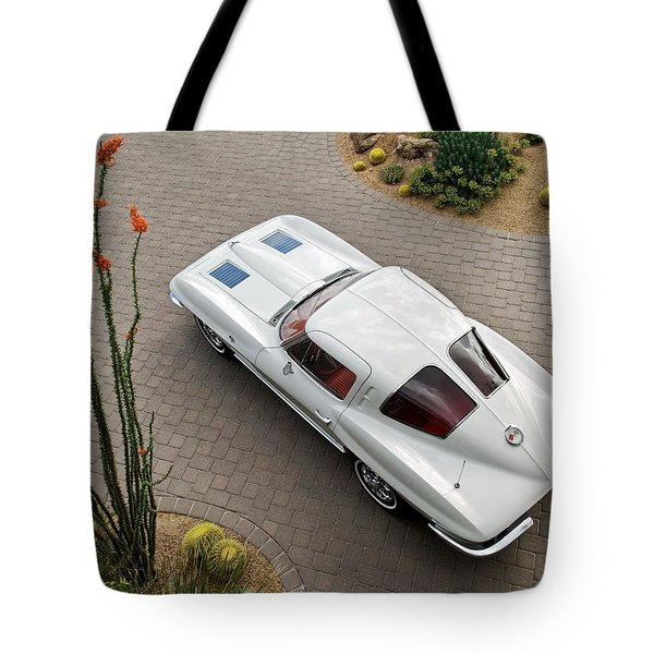 Tote Bag featuring the photograph 1963 Chevrolet Corvette Split Window -440c by Jill Reger