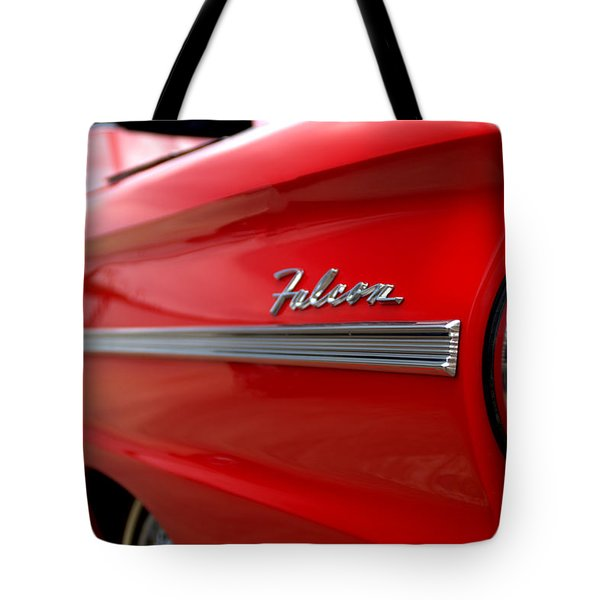 1963 Ford Falcon Name Plate Tote Bag by Brian Harig