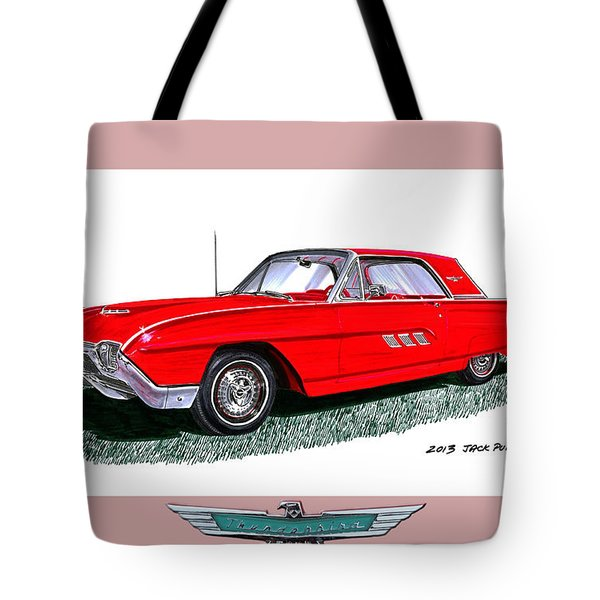 1963 Ford Thunderbird Tote Bag by Jack Pumphrey