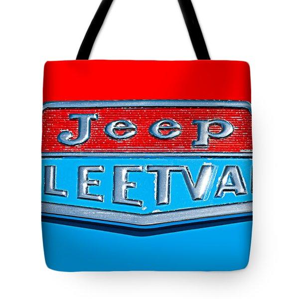 1963 Jeep Fleetwood Emblem Tote Bag by Jill Reger