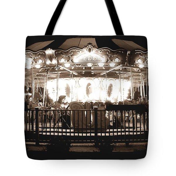 1964 Allan Herschell Carousel Tote Bag